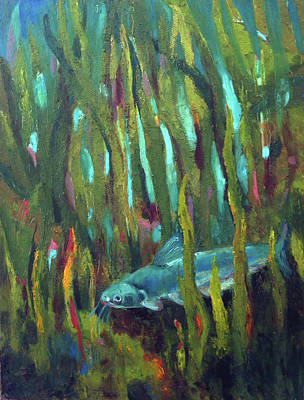 Painting - Catfish by Art Nomad Sandra Hansen
