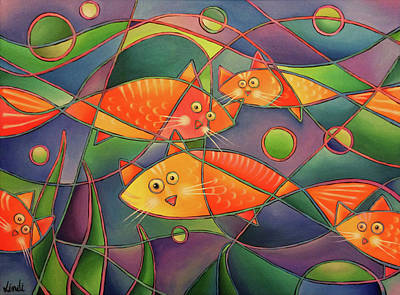 Painting - Catfish by Lindi Levison