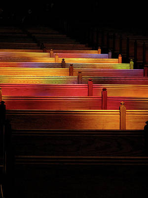 Photograph - Cathederal Pews by Pete Hunt