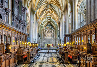 Stained Photograph - Cathedral Aisle by Adrian Evans