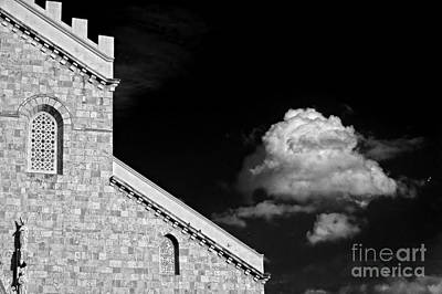 Photograph - Cathedral And Cloud by Silvia Ganora