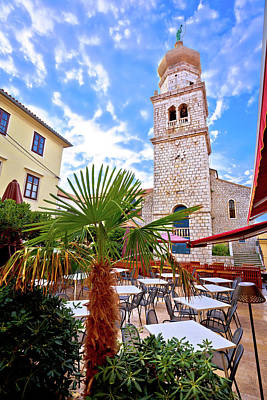 Photograph - Cathedral And Square Of Krk Vertical View by Brch Photography