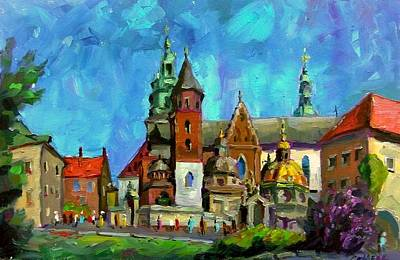Painting - Cathedral And St. Stanislaus In Wawel Castle In Krakow by Nina Silaeva