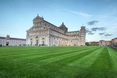 Photograph - Cathedral And The Leaning Tower Of Pisa by Julian Popov