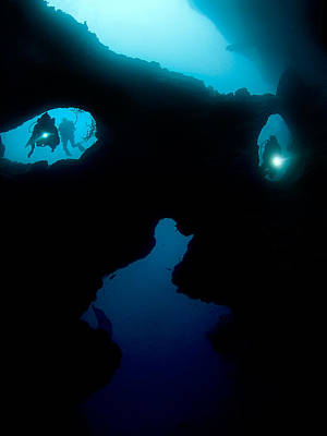 Cavern Photograph - Cathedral At Pescador Island by Henry Jager