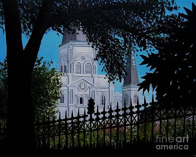 French Quarter Painting - Cathedral At The Square by Valerie Carpenter
