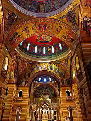 Photograph - Cathedral Basilica Of Saint Louis Interior Study 11 by Robert Meyers-Lussier