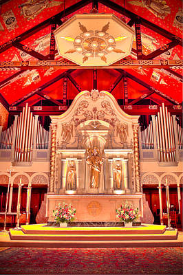 Cathedral Basilica Of St. Augustine Art Print by Rich Leighton