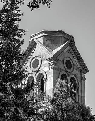 Photograph - Cathedral Basilica Of St Francis In Bw by James Barber