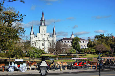 Photograph - St. Louis Cathedral Basilica by Ben Prepelka