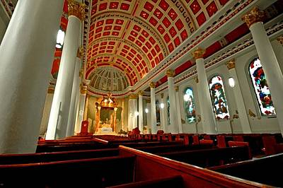 Cathedral Basilica Of The Immaculate Conception Original by Michael Thomas