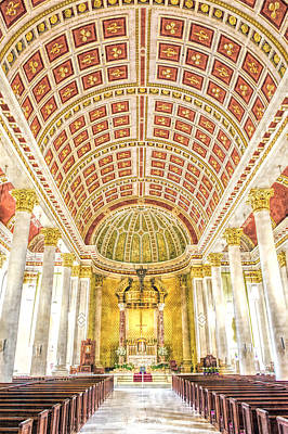Ceiling Mobile Digital Art - Cathedral-basilica Of The Immaculate Conception by Robert Barnes