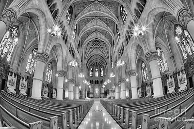Photograph - Cathedral Basilica Of The Sacred Heart 1 Bw by Jerry Fornarotto