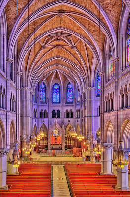 Art Print featuring the photograph Cathedral Basilica Of The Sacred Heart Newark Nj II by Susan Candelario