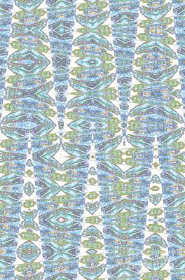 Silk Wall-hanging Digital Art - Cathedral Blue Tapestry by Ann Johndro-Collins