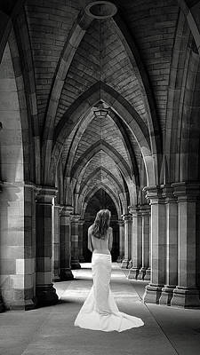 Nude Bride Photograph - Cathedral Bride 13 By  9 by Robert Magnus