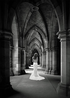 Nude Bride Photograph - Cathedral Bride by Robert Magnus