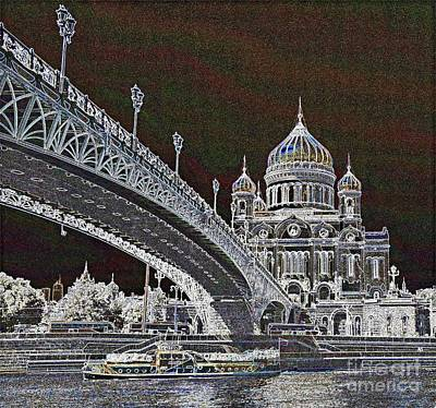 Photograph - Cathedral Bridge And A Boat by Steven Liveoak