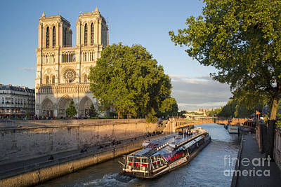 Photograph - Cathedral By The River - Paris by Brian Jannsen