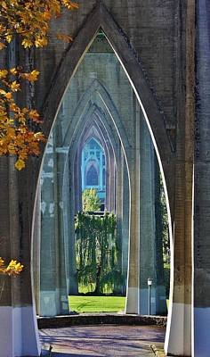 Photograph - Cathedral Columns Of The St. Johns Bridge by Bruce Bley