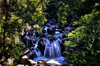 Photograph - Cathedral Creek Cascade On The Tioga Pass by Roger Passman