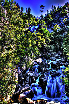 Photograph - Cathedral Creek Cascade On Tioga Pass Road by Roger Passman