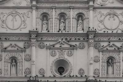 Photograph - Cathedral De Santa Maria - Facade 2 - Monochrome by Hany J