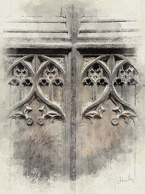 Digital Art - Cathedral Door by Julian Perry