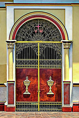 Photograph - Cathedral Door by Maria Coulson