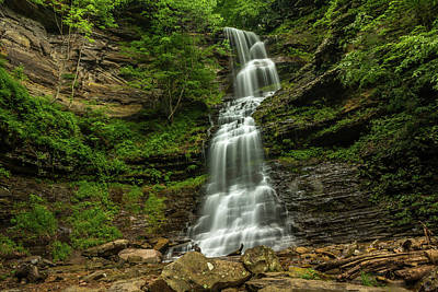 Photograph - Cathedral Falls - West Virginia Waterfall by Chris Berrier