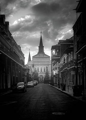 Fog Photograph - Cathedral Fog In Black And White by Chrystal Mimbs