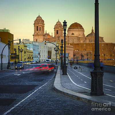 Photograph - Cathedral From Campo Del Sur Cadiz Spain by Pablo Avanzini