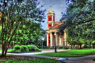 Photograph - Cathedral From Corner In Mobile Alabama by Michael Thomas