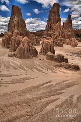 Photograph - Cathedral Gorge Towers Portrait by Adam Jewell