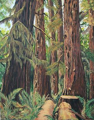 Painting - Cathedral Grove  by Sharon Duguay