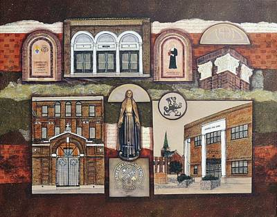 Religious Art Drawing - Cathedral High School by Candy Mayer