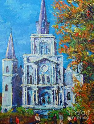 Painting - Cathedral In Autumn by Beverly Boulet