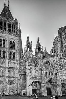 Digital Art - Cathedral In Rouen France by Carol Ailles