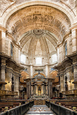 Photograph - Cathedral Interior by Maria Coulson