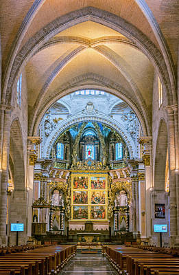 Photograph - Cathedral Interior Valencia Spain by Joan Carroll