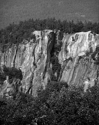 Climbing Photograph - Cathedral Ledge-the Prow IIi Bw by Frank LaFerriere