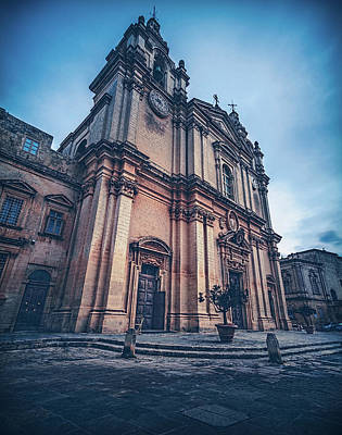 Art Print featuring the photograph Cathedral Mdina by Nisah Cheatham