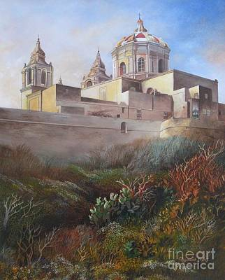 Cathedral Mdina Original by Raymond Frans