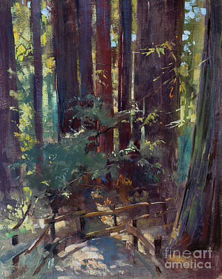 Wall Art - Painting - Cathedral, Muir Woods by Patrick Saunders
