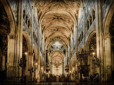 Photograph - Parma, Italy - Parma Cathedral Nave by Mark Forte