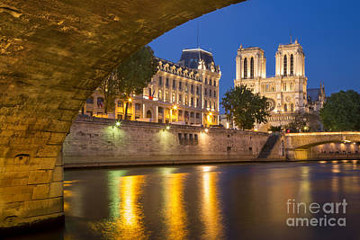 Photograph - Cathedral Notre Dame And River Seine - Paris by Brian Jannsen