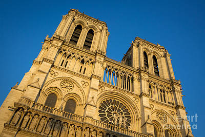 Photograph - Cathedral Notre Dame At Sunset by Brian Jannsen