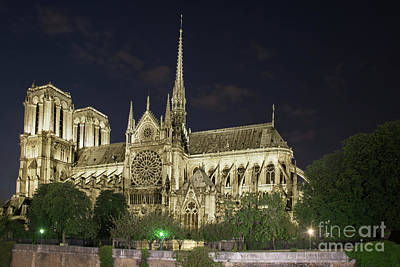 Photograph - Cathedral Notre Dame De Paris by Tim Mulina