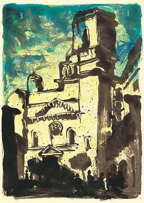 Painting - Cathedral Notre-dame-et-saint-castor De Nimes, Provence by Martin Stankewitz