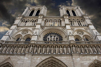 Porches Photograph - Cathedral Notre Dame Of Paris. France   by Bernard Jaubert